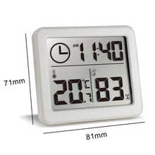 Load image into Gallery viewer, Ultra-thin Digital Temperature Humidity Table Clock Automatic Monitoring Large LCD Screen Desk Clock