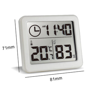Ultra-thin Digital Temperature Humidity Table Clock Automatic Monitoring Large LCD Screen Desk Clock