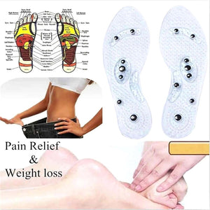 Unisex Magnetic Massage Shoe Insole Foot Care Acupressure Slimming Shoe Gel Insoles