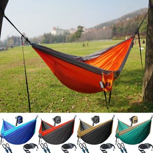 Upgrade Camping Hammock Outdoor Tourist Hanging Hammocks Portable Parachute Nylon Hiking Hammock