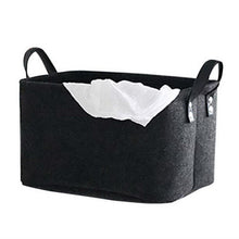 Load image into Gallery viewer, Foldable Toy Laundry Basket Felt Storage Baskets Dirty Clothes Hamper Toy Holder Storage Bag