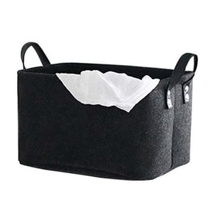 Foldable Toy Laundry Basket Felt Storage Baskets Dirty Clothes Hamper Toy Holder Storage Bag