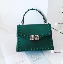 Load image into Gallery viewer, Fashion Scrub Matte Stud Jelly Pack Shoulder bag rivet women Handbag Lady Purse