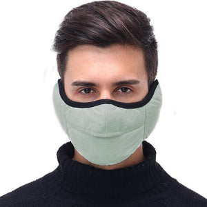 Unisex Winter Two-in-one Earmuffs Warm Mask