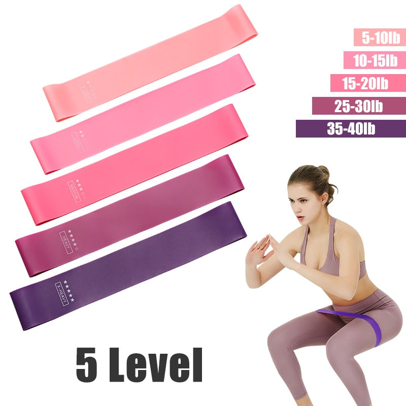 Yoga Crossfit Resistance Bands 5 Level Rubber Training Pull Rope For Sports Pilates Expander Fitness Gum Gym Workout Equipment
