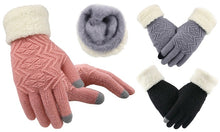 Load image into Gallery viewer, Knitted Touchscreen Gloves