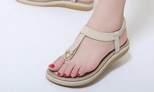 Summer Flat Shoes Comfortable Bohemian Large Size Sandals