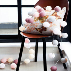 3M 20 Cotton Ball String Fairy Night Lights