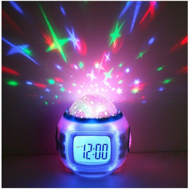Sky Star Night Music LED Lamp Alarm Clock