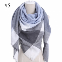 Load image into Gallery viewer, Womens Warm Check Neck Scarf Shawl