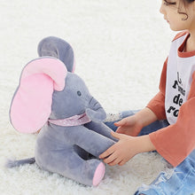 Load image into Gallery viewer, 30CM Music Plush Doll Play Educational Music Hide Seek Baby Child Pink Grey Elephant