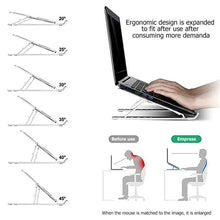 Load image into Gallery viewer, Adjustable Folding Laptop Stand Tablet Holder