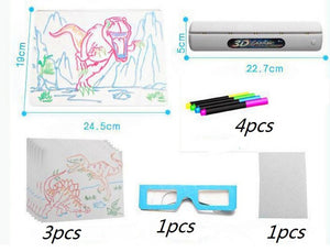 Drawing Board 3D Glasses Led Lamp Holder
