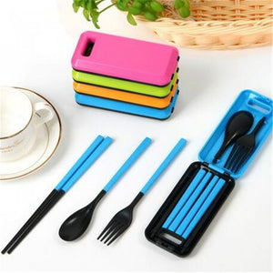 Portable Travel Tableware Three-Piece Set