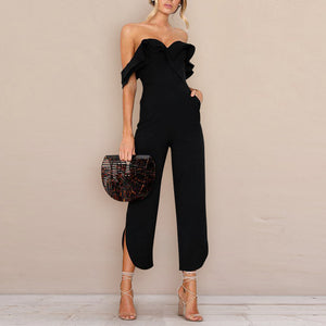 Black Sexy Stylish Off Shoulder Jumpsuit