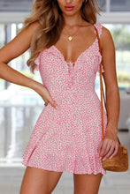 Load image into Gallery viewer, Spaghetti Strap  Backless  Dot  Sleeveless Casual Dresses