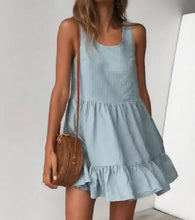 Load image into Gallery viewer, Vest Pleated Large Dress Mini Dress