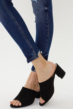 High Rise Button Fly Ankle Skinny Denim
