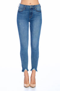 High Rise Skinny Crop Denim