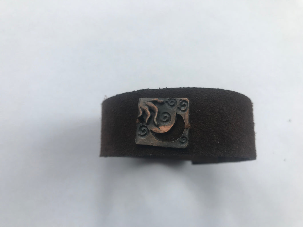 Sun and Moon Leather Bracelet