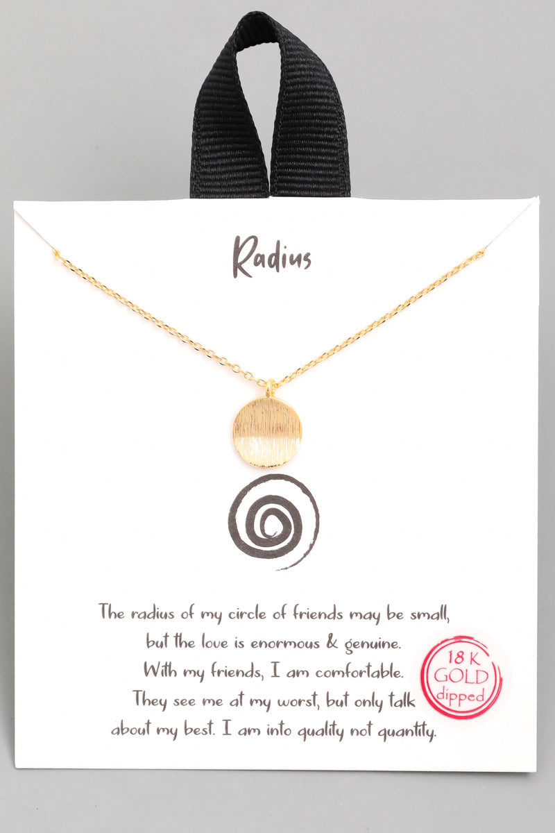Circle of Friends Radius Necklace