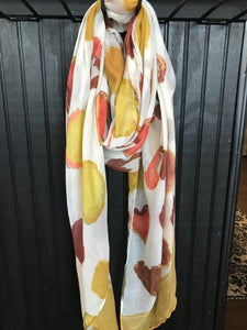 Yellow and Orange Printed Scarf