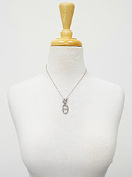 Silver Toggle Pendant Necklace