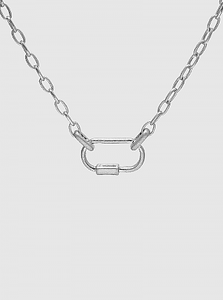 Silver Carabiner Choker Necklace