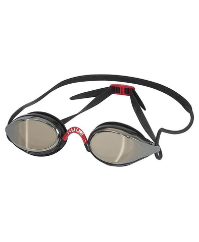 HUUB Brownlee Swim Goggle - Black/Black with Dark Smoke Mirror Lens