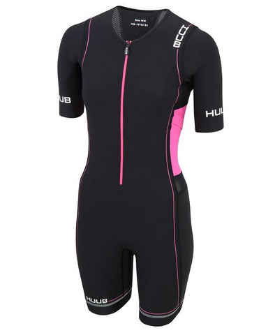HUUB Core Long Course Triathlon Suit - Womens Black/Pink