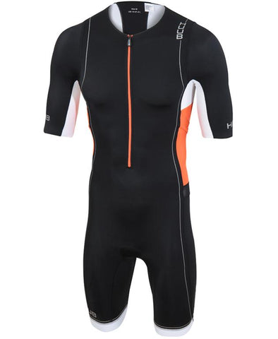 HUUB Core Long Course Triathlon Suit - Mens Black/Orange/White