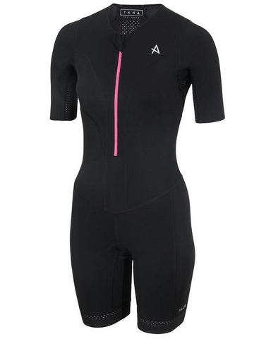 HUUB Tana Long Course Triathlon Suit - Womens Black/Pink