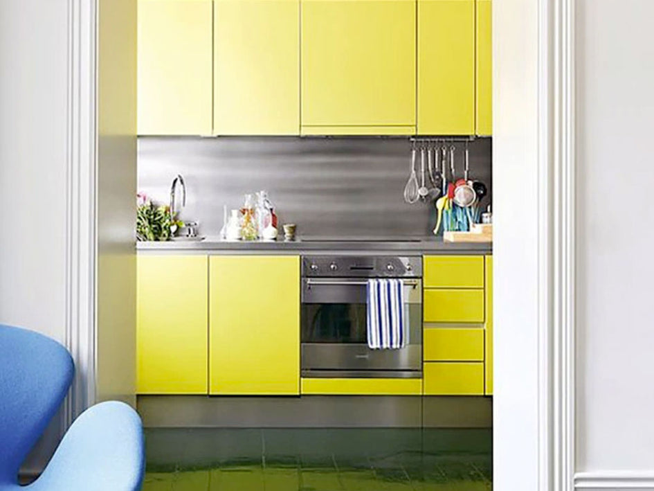 inspiration: colour in kitchens
