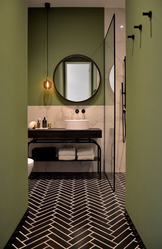 green and pink inspiration bathroom | houseof.com