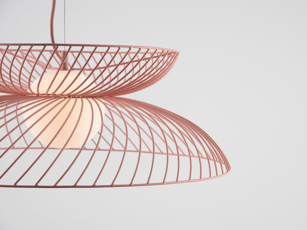 Cage ceiling light | pink | houseof