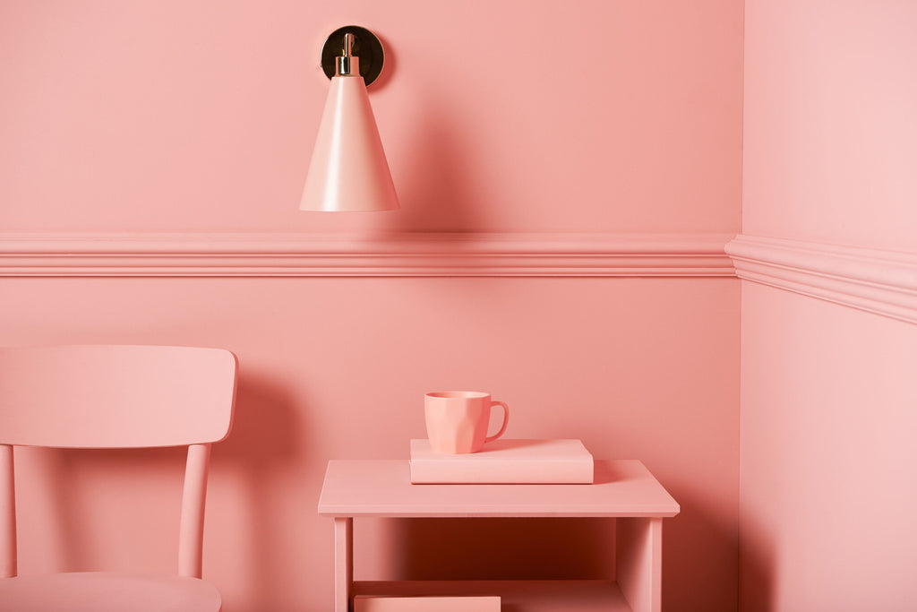 cone shade wall light | pink | houseof