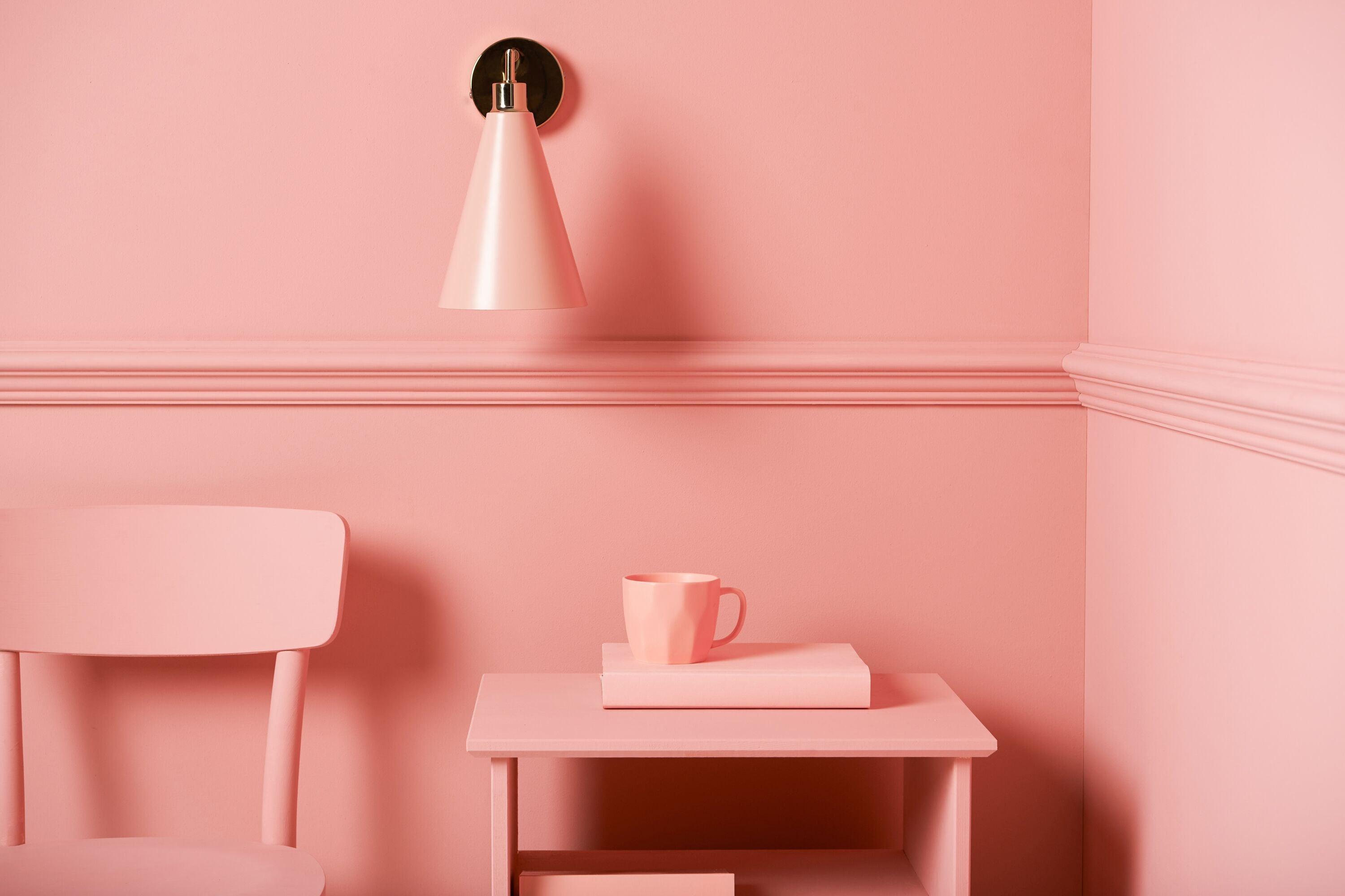 houseof cone shade wall light | pink