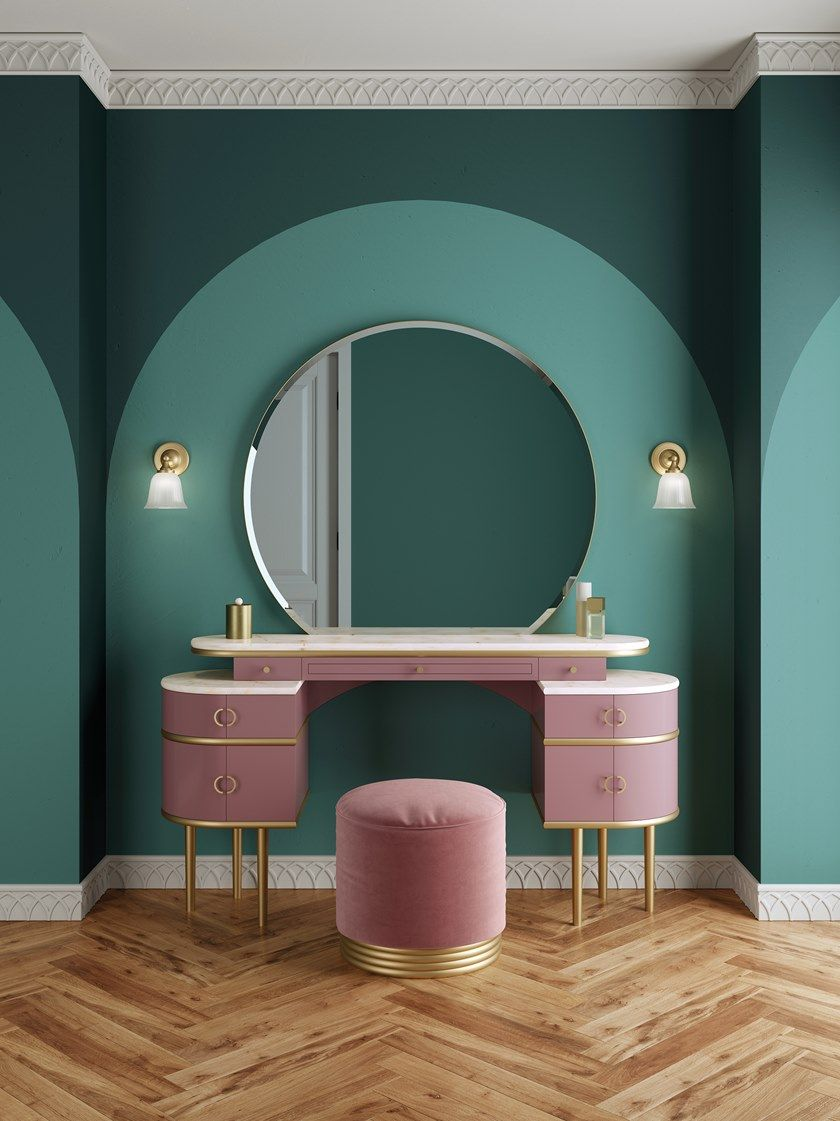 zelda dressing table with double wall light houseof.com