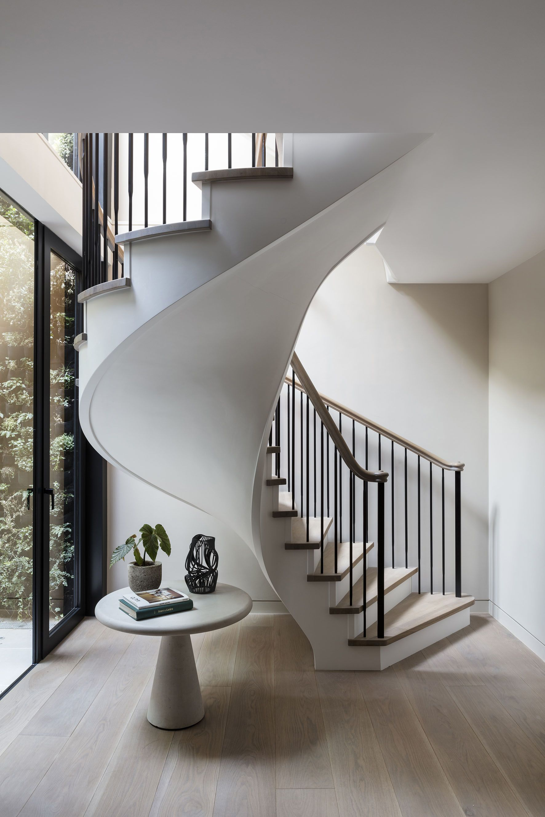 modern spiral staircase | houseof | lighting ideas for stairs