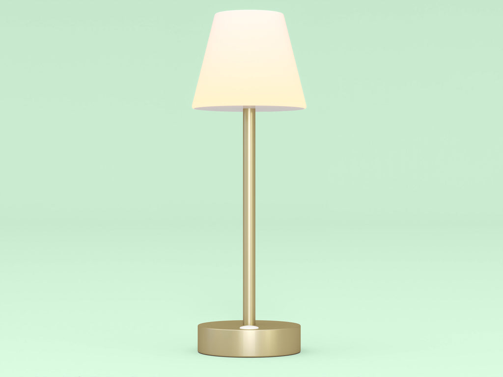 outdoor table lamp - brass