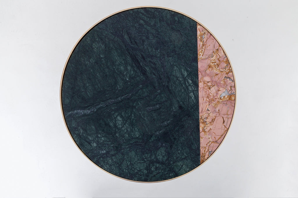 Marble side table | green and pink | houseof