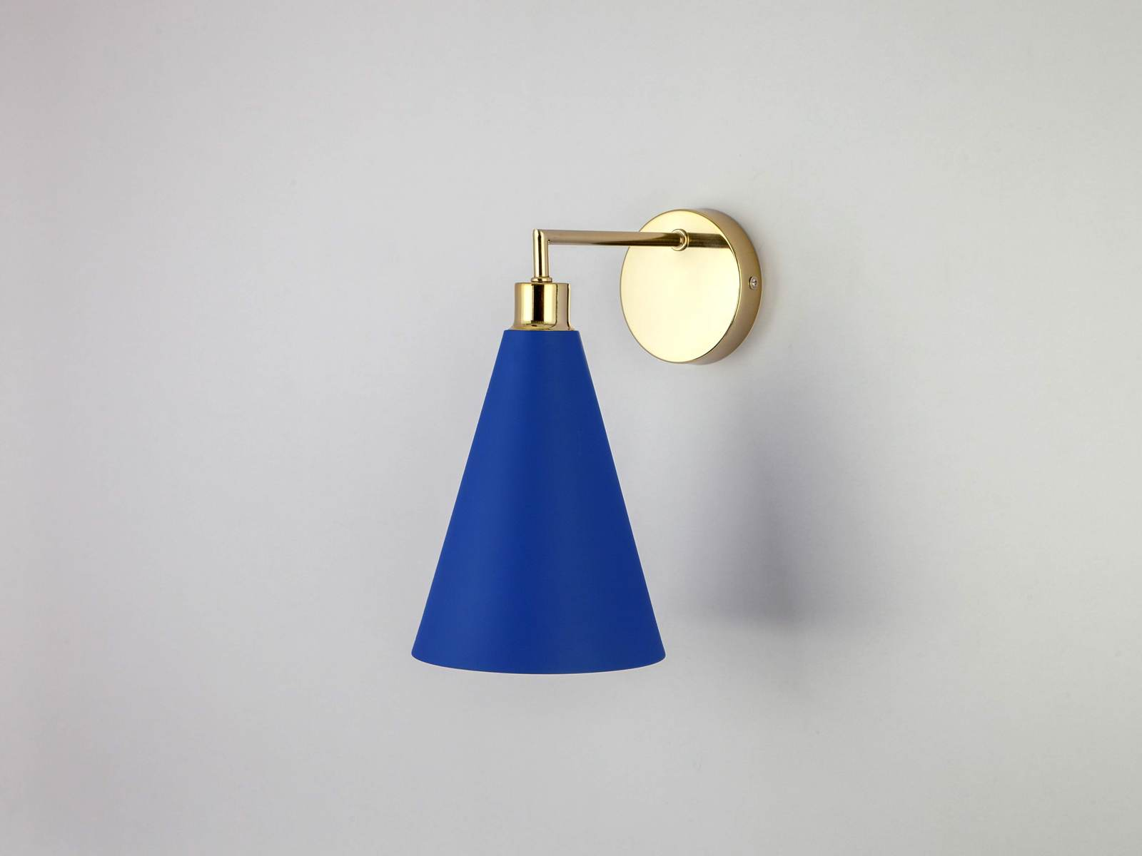 cone shade wall light | blue | pantone of the year