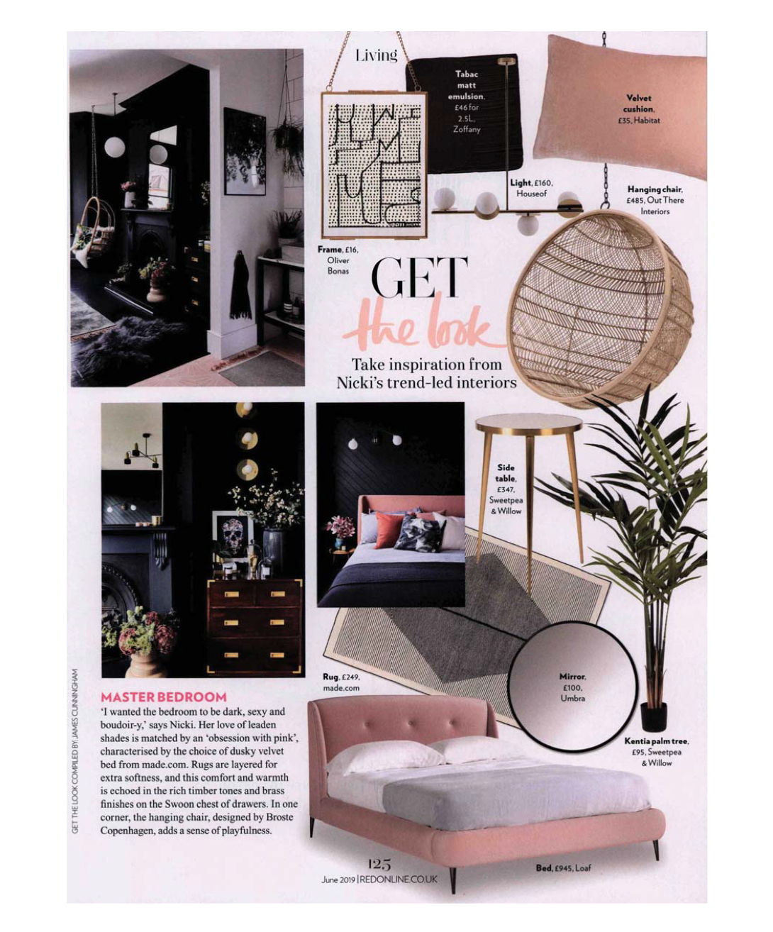 pressarticle-red-magazine-houseof-get-the-look-opal-disk-ceiling-light-brass