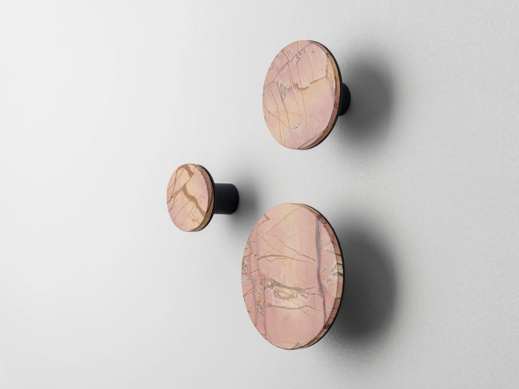 Set of three marble hooks | Pink | houseof