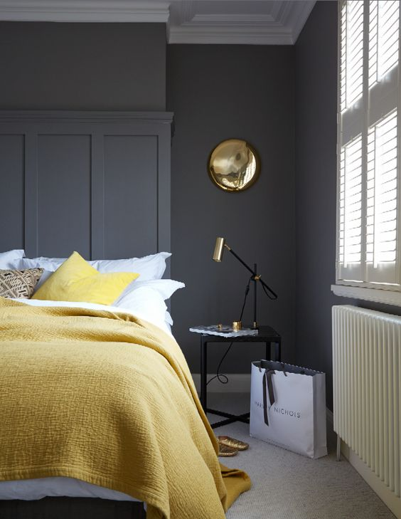 Nearly black and brass room | houseof.com