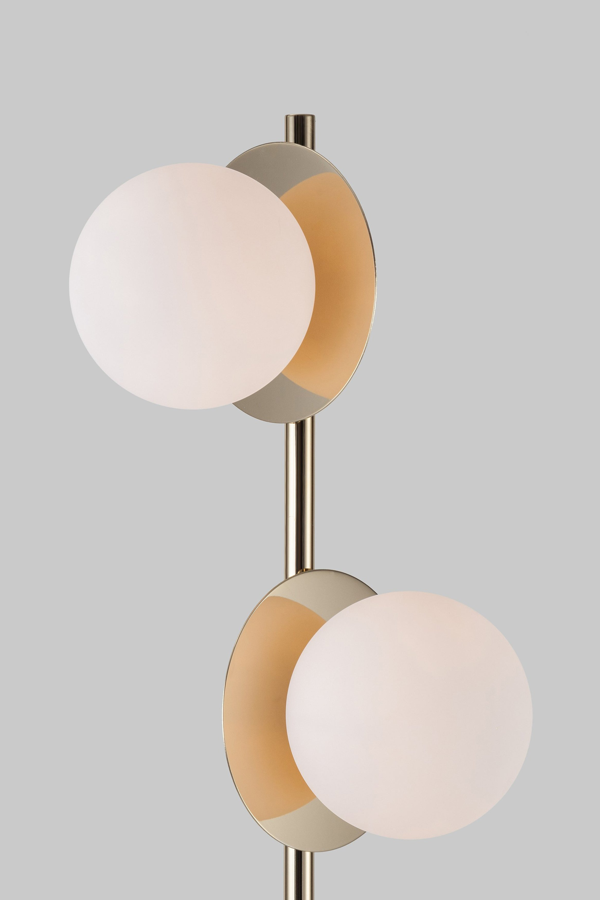 Opal disk floor lamp | Brass | houseof.com