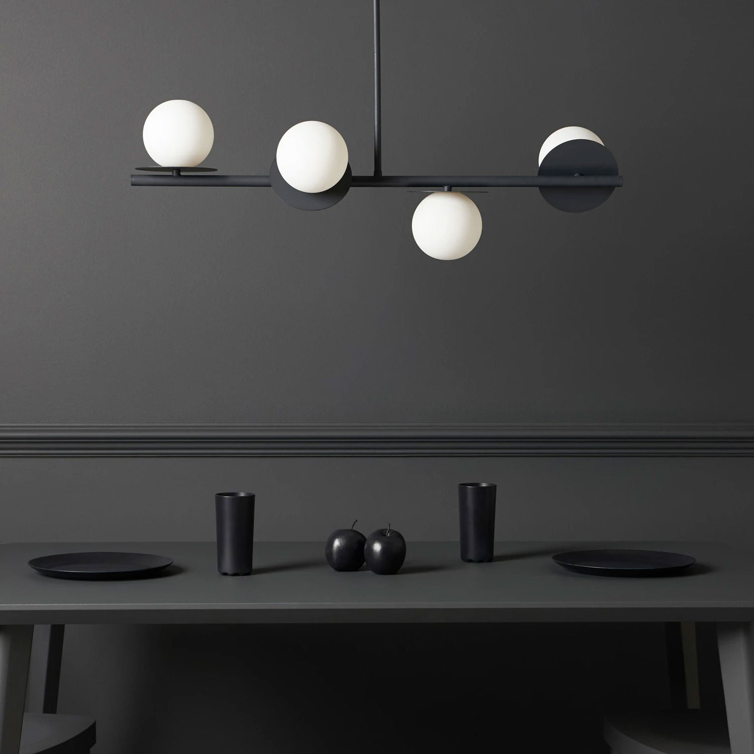 houseof opal disk ceiling light in charcoal