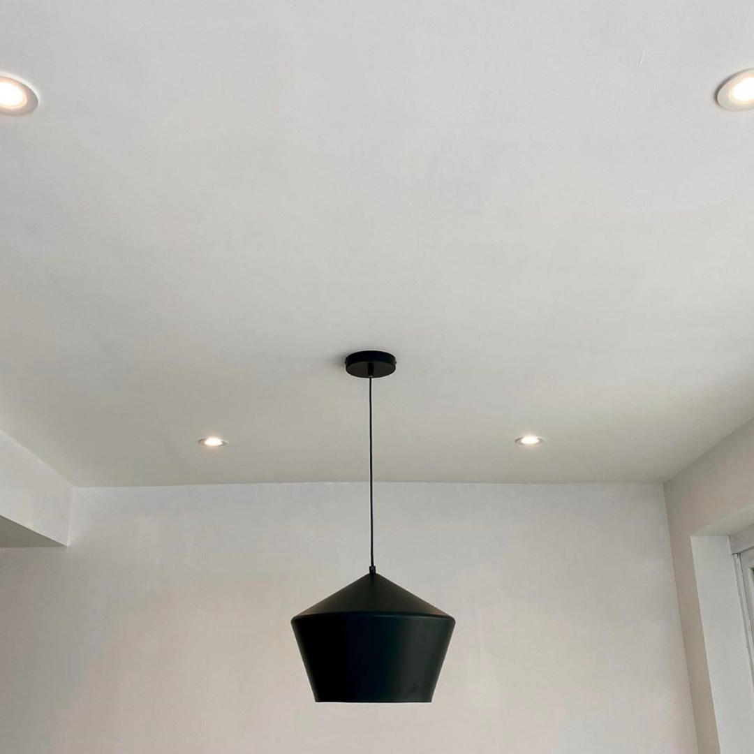houseof - stories - sloped ceiling - metal diner pendant - projectprincecharles