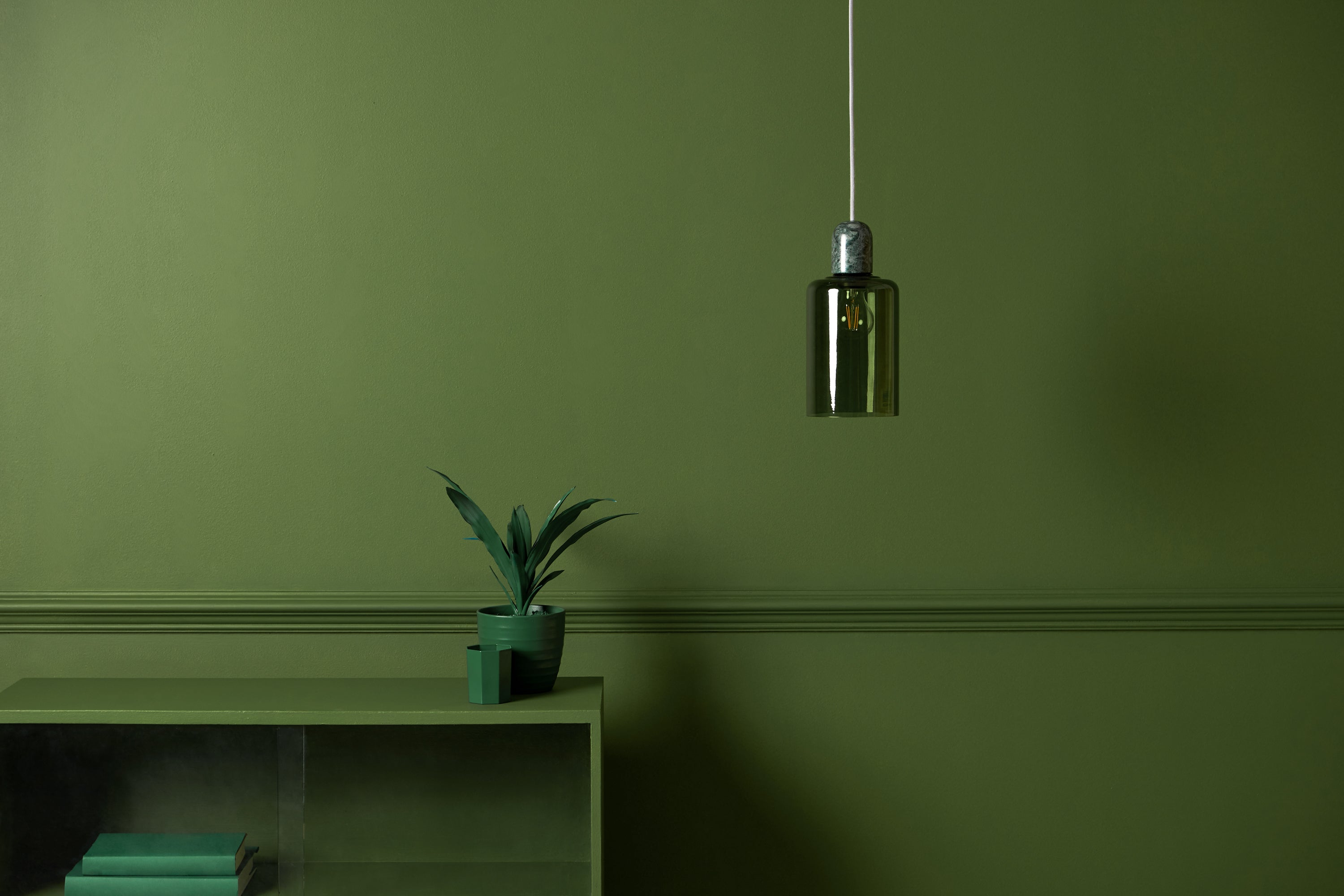 houseof you drop cap light in olive and green marble | houseof