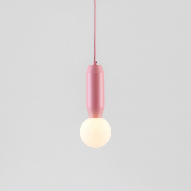 pink pendant ceiling light